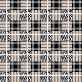 La tela escocesa, tartán inconsútil con la cebra raya el modelo Estampado de zebra, piel animal, rayas del tigre, modelo abstract libre illustration