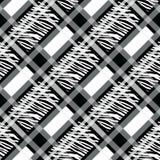 La tela escocesa, tartán inconsútil con la cebra raya el modelo Estampado de zebra, piel animal, rayas del tigre, modelo abstract stock de ilustración