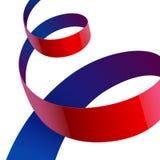 La tela texturizada brillante roja y púrpura curvó la cinta Imagenes de archivo