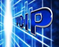 La telefonía de Voip indica voz sobre banda ancha y protocolo stock de ilustración