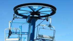 La telesilla escénica monta el follaje de otoño Winterplace Ski Resort Top de la montaña WV del top plano almacen de metraje de vídeo
