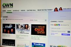 La televisión de Oprah POSEE Foto de archivo