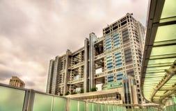 La televisione di Fuji acquartiera la costruzione sull'isola di Odaiba - Tokyo, Giappone immagini stock