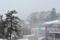 La tempête de la neige images stock