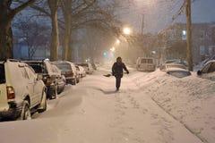 La tempête de la neige photographie stock libre de droits
