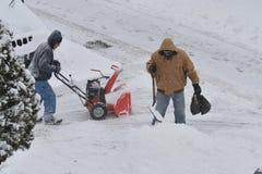 La tempête de la neige Juno image stock