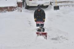 La tempête de la neige Juno image libre de droits