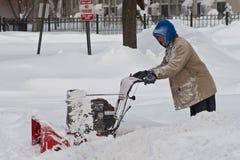 La tempête de neige nettoient Chicago Photo libre de droits