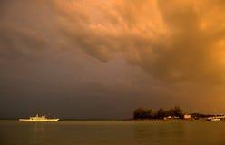 La tempête vient photographie stock libre de droits