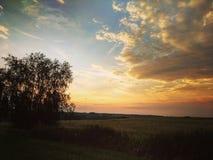 La tempête vient avec le coucher du soleil /3 Image libre de droits