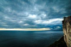 La tempête vient dans le golfe de Trieste Photo libre de droits