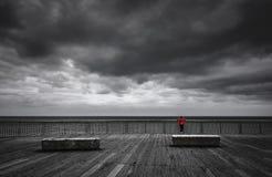 La tempesta è coimg immagine stock