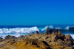 La tempesta dell'ambiente del tempo erode le spiagge Fotografia Stock Libera da Diritti