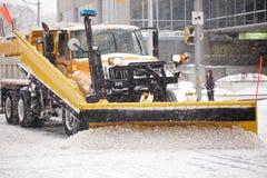 La tempesta dell'inverno colpisce Toronto fotografie stock libere da diritti