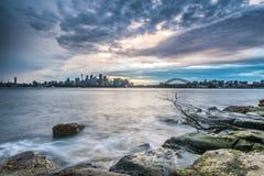 La tempesta di Sydney viene gennaio 21,2016 Fotografie Stock