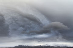 La tempesta si rannuvola l'Islanda fotografie stock