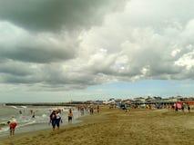 La tempesta sta venendo, Santa Clara, Buenos Aires, Argentina Fotografia Stock