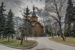 La tempio-cappella dell'icona suprema della madre di Dio Fotografia Stock