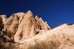 La tenda di Kasha-Katuwe oscilla il monumento nazionale, New Mexico, U.S.A. Immagine Stock