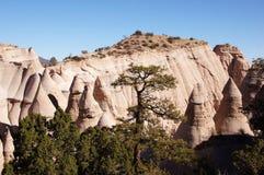 La tenda di Kasha-Katuwe oscilla il monumento nazionale, New Mexico, U.S.A. Fotografie Stock Libere da Diritti