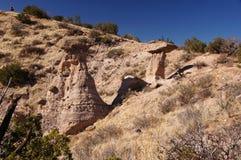 La tenda di Kasha-Katuwe oscilla il monumento nazionale, New Mexico, U.S.A. Fotografie Stock