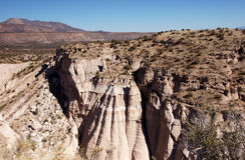 La tenda di Kasha-Katuwe oscilla il monumento nazionale, New Mexico, U.S.A. Fotografia Stock Libera da Diritti