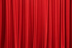 La tenda rossa fotografie stock