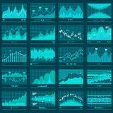 La tendencia financiera representa la bandera del vector gráficamente del negocio stock de ilustración