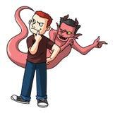La tentation de Satan illustration stock