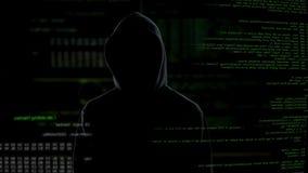 La tentative entaillante réussie, a placé l'accès à l'information personnelle, cyber-terrorisme banque de vidéos
