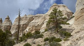 La tente de Kasha-Katuwe bascule le monument national, Nouveau Mexique, Etats-Unis Photo libre de droits