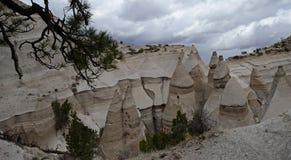 La tente de Kasha-Katuwe bascule le monument national, Nouveau Mexique, Etats-Unis Photos stock