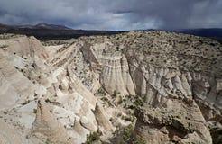La tente de Kasha-Katuwe bascule le monument national, Nouveau Mexique, Etats-Unis Images stock