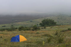 La tente sur la colline Images libres de droits