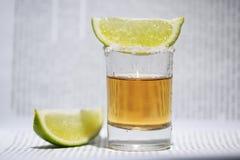 La tequila con calce Immagine Stock Libera da Diritti