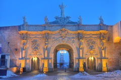 La tercera puerta de la fortaleza Alba de Iulia Foto de archivo