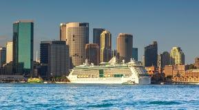 La terminal de viajeros de ultramar en Sydney fotografía de archivo
