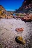 La terra asciutta Fotografie Stock