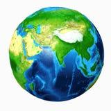 Vista dell'Asia della terra illustrazione vettoriale