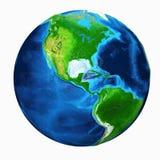 Vista di U.S.A. della terra illustrazione di stock