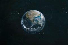 La terra da spazio Elementi di questa immagine ammobiliati dalla NASA fotografia stock libera da diritti