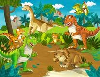 La terra del dinosauro - illustrazione per i bambini Fotografia Stock Libera da Diritti