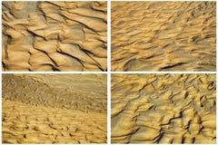 La terra dell'acqua di erosione del suolo increspa il collage Fotografia Stock Libera da Diritti