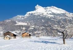 La terra di Mont Blanc Fotografia Stock