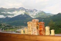 La terra di Svans o di Svanebi è una delle regioni più a distanza e più inaccessibili immagine stock