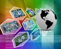 La terra ed il WWW Immagini Stock Libere da Diritti