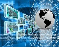 La terra ed il WWW Immagine Stock Libera da Diritti