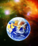 La terra, il nostro Terra domestico del pianeta nello spazio Fotografia Stock Libera da Diritti
