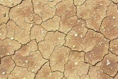 La terra incrinata, terra nella siccità, nella struttura del suolo ed in fango asciutto, Fotografie Stock Libere da Diritti