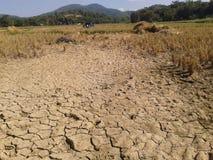 La terra non ha acqua Immagini Stock Libere da Diritti